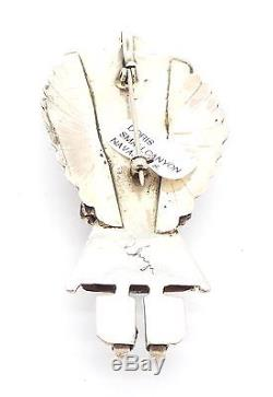 Navajo Handmade Sterling Silver Turquoise Kachina Pendant/Pin Doris Smallcanyon