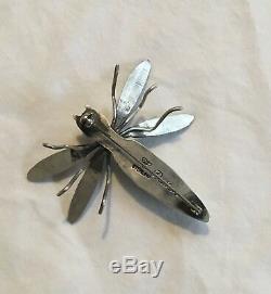 Navajo Herbert Ration Turquoise Bug Pin
