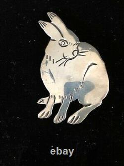Navajo Rabbit Pin Sterling Silver By Harrison Yazzie 473