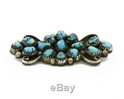 Navajo Turpen Pawn Vault Signed ANZR. 925 Silver Turquoise Pin