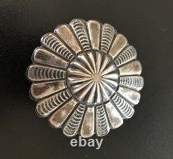 Navajo Vintage Sterling Concho Pin 1960's