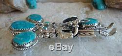 Navajo Will Denetdale Vintage Kachina Pendant Pin Sterling Silver Turquoise