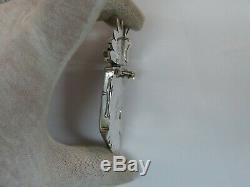 Nelson Morgan Navajo Sterling Silver & Coral Kachina Pin Pendant