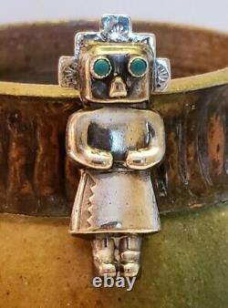 Nice Older Native American Sterling Silver Bennett Brothers Kachina Pins