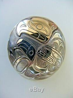 Northwest Coast Gold & Silver Thunderbird Totem Pendant/Pin Paddy Seaweed