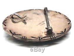 Old Pawn Navajo Sterling Silver Multi Color Inlay Pendant & Pin -B. Piaso Jr