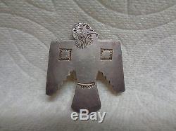Original Fred Harvey Thunderbird Pin Brooch 1910 Antique Native American Rare