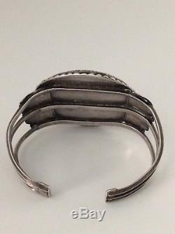 RARE LARGE ZUNI John Gordon Leak Knifewing Kachina Bracelet Pin Set Signed