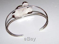 Rare Zuni MICKEY MOUSE Sterling Inlaid Stone Bracelet Zuni Toons Paula Leekity