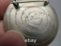 Roland H Begay Navajo Wedding Basket Design Copper & Sterling Brooch Pin