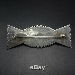 STUNNING Vintage NAVAJO Sterling Silver BISBEE TURQUOISE Bow Tie PIN/BROOCH