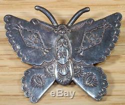 Sara Platero Navajo Sterling Silver Butterfly Brooch 7166
