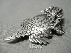 So Detailed! Navajo Sterling Silver Horned Toad Native American Pin
