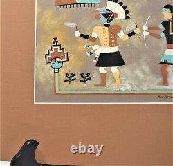 Soe-Khuwa-Pin Robert Montoya Native American San Juan Original Painting Kachina