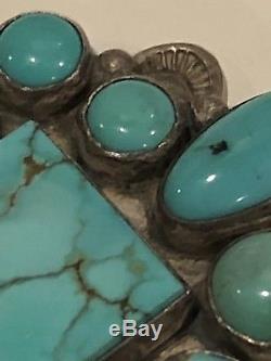 Sterling Native American Navajo Turquies Pin Frank @ Birililda Coriz S. O. P S. D. P
