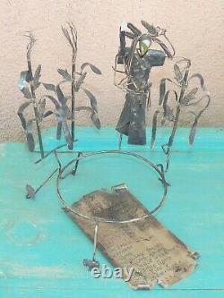Sterling Sculpture w 2 Pins & Poem Pinkeye Jeff Story Native American CORN