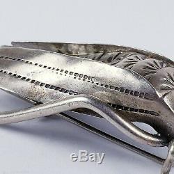 Sterling Silver 925 Navajo 3D Detailed Grasshopper Brooch Pin