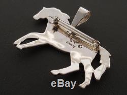 Sterling Silver Horse Pin Pendant Native American Handmade Sam Gray Yeis Journey