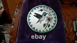 Sterling Silver Hummingbird Pendant / Pin Zuni Rudell & Nancy Laconsello