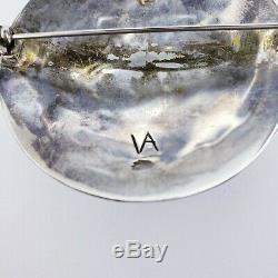 Sterling Silver Kewa Santo Domingo Pueblo Artist Vidal Aragon Brooch Pin Pendant