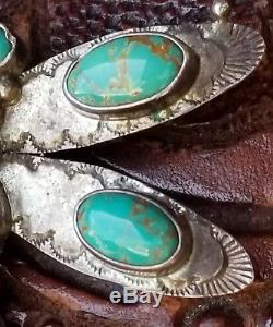 Sterling Silver Manassa Turquoise Dragonfly Brooch By Navajo Emma Jean Bighand