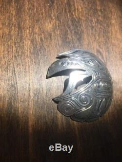 Sterling Silver Pacific Northwest Native Haida Brooch, Pin