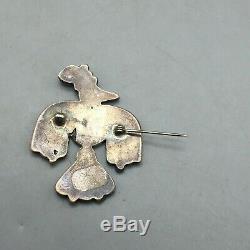 Stunning! A Vintage Zuni Inlay Thunderbird Pin or Brooch