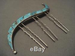 The Best Vintage Zuni Ellen Quandelacy Raincloud Bisbee Silver Hair Pin