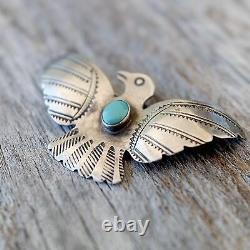 Thunderbird Pin UITA Toadlana Trading Post Native American Turquoise Old Pawn