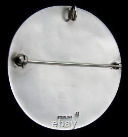 VINTAGE HOPI KOKOPELLI Sterling Corn Plant Pin/Pendant