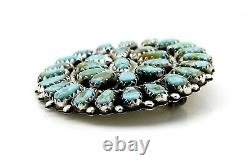 VTG 1980's 90's Navajo Artists N&R NEZ. 925 Silver & Turquoise Pendant or Pin