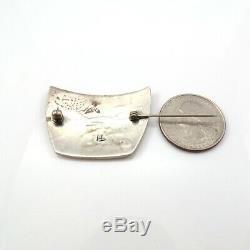 VTG Hopi Crafts Native American Sterling Silver Overlay Roadrunner Pin LFG5