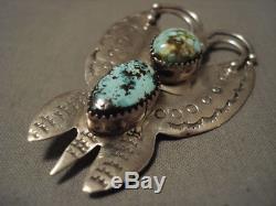 Very Famous Rare Artist Vintage Navajo Kee Joe Benally Turquoise Pin