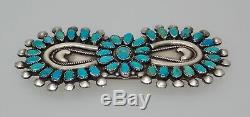 Victor Moses Begay Navajo Sterling Silver & Turquoise Cluster Southwest Pin