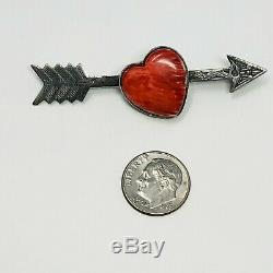 Vintage Fred Harvey Era Sterling Spiny Oyster Shell ARROW Pin