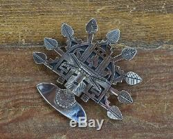 Vintage Hopi Butterfly Maiden Pendant and Pin by Lawrence Saufkie