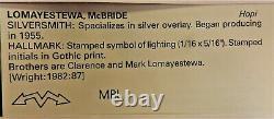 Vintage Hopi Mcbride Lomayestewa Silver Overlay Pin/pendant, Bird & Corn, Signed