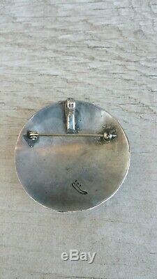 Vintage Hopi Mudd Head Koyemsi Sterling Pendant /Pin
