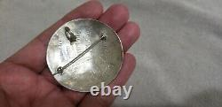 Vintage Hopi Navajo Sterling Silver Large Bear Claw Signed Brooch Pendant Pin