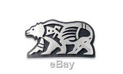 Vintage Hopi Sterling Silver Bear Brooch Pin