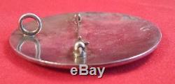 Vintage Mark Lomayestewa Hopi Sterling Silver Kachina Pendant Pin Brooch
