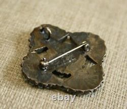 Vintage Native American Zuni Sterling Silver Pin Brooch