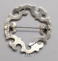 Vintage Navajo F. L. Begay Sterling Silver Sandcast Pin