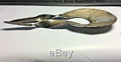 Vintage Navajo Old Pawn Sterling Silver Stamped Ladies Hair Pin Set Rare