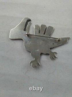 Vintage Navajo Sterling Silver Bird Brooch 925 SIGNED CRW or ORW #17/500 17g