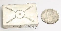 Vintage Navajo Sterling Silver Harvey Era Old Pawn Stamped Matchstick Pill Box