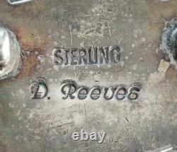 Vintage Navajo Sterling Turquoise Handmade Pin Brooch David Reeves