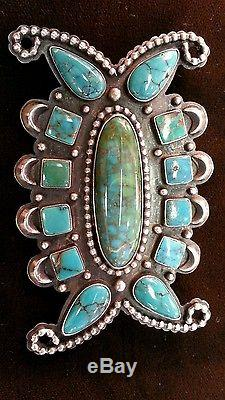 Vintage Navajo Sterling & Turquoise Pin/Brooch Signed R H Boyd