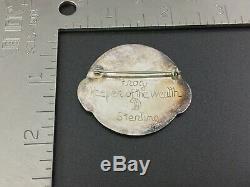 Vintage Northwest Coast Dan Sterling Silver Frog Pin Brooch