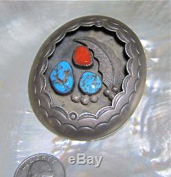 Vintage, Old Pawn Navajo Handmade Sterling Silver Blanket Pin
